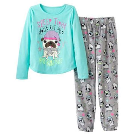 pajamas for pugs so sleep tight pug fleece pajama set from koh
