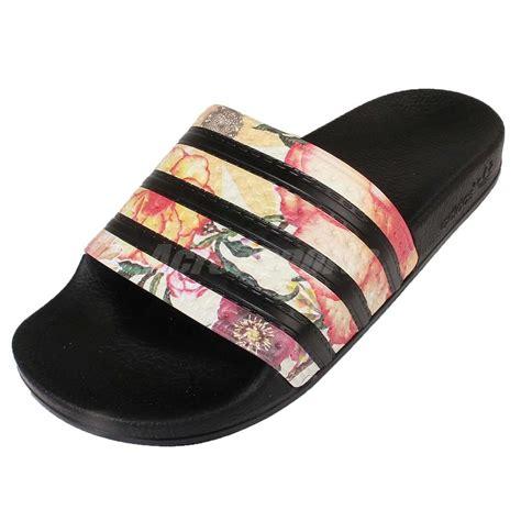 adidas sandals womens adidas adilette w the farm pack black womens sandal slide