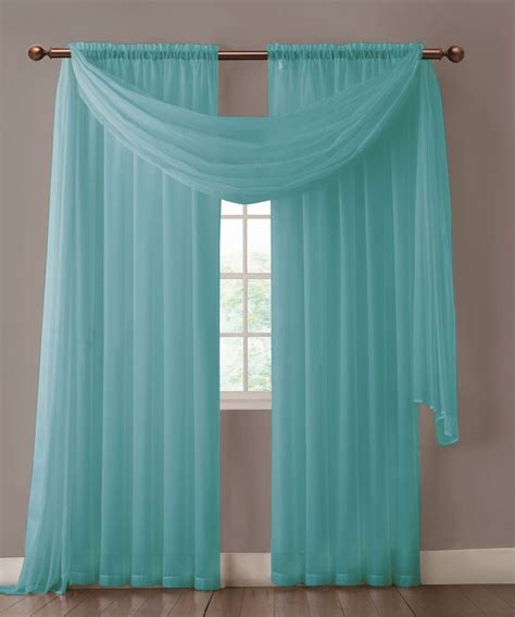 Turquoise Valances For Windows Inspiration 1000 Ideas About No Sew Valance On Valances Window Valances And Kitchen Bay Windows