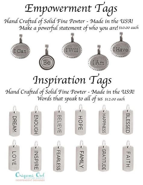 Origami Owl Tags - tagged by origami owl empowerment tags origami owl