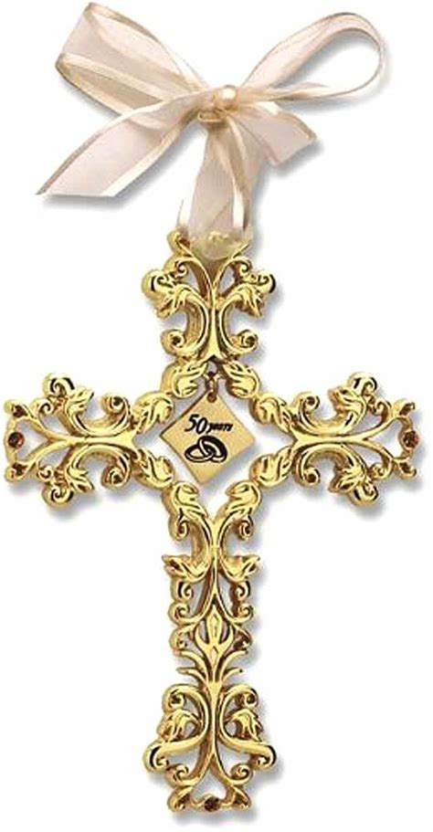 50th Anniversary Filigree Cross, Golden Anniversary cross