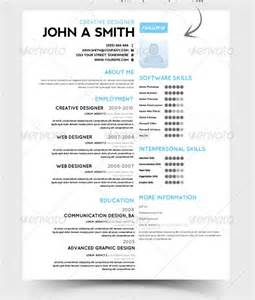 one page resume sles psd resume template 51 free sles exles format
