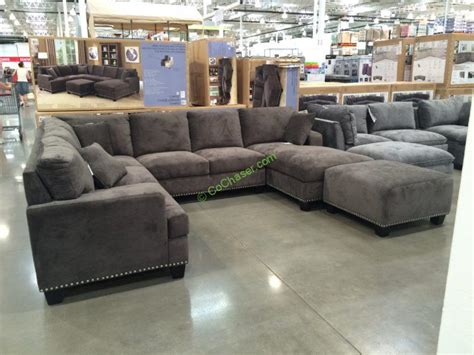 fabric chaise sectional with ottoman bainbridge fabric sectional with ottoman costcochaser