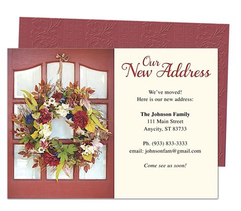 new home card template moving announcement or new address cards celebrations of