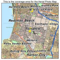 torrance california map aerial photography map of torrance ca california