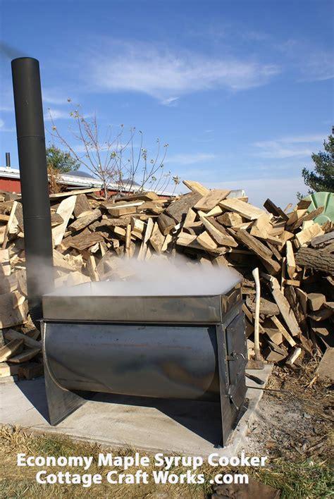 Backyard Cottage Kits hobby wood fired basic maple syrup cooker evaporator