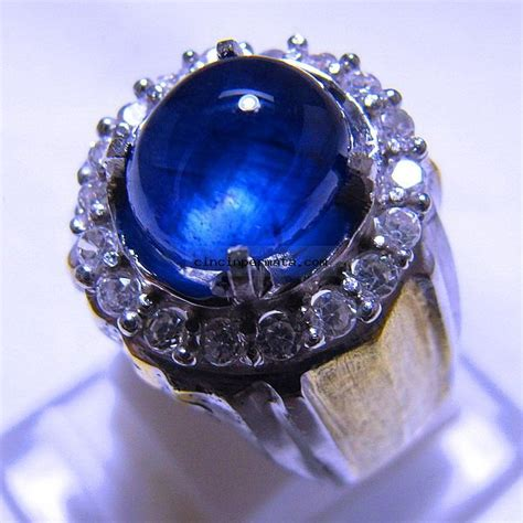 Cincin Batu Blue Shapire batu cincin permata royal blue sapphire cincinpermata