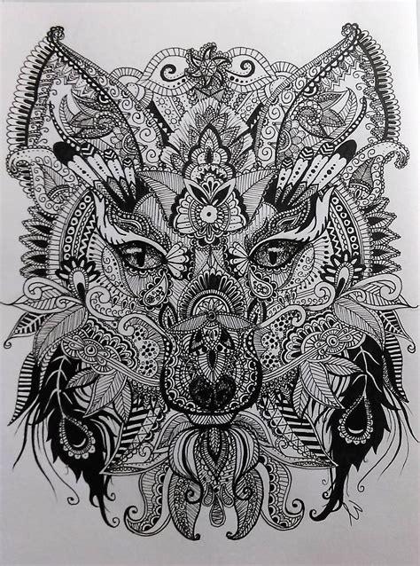 Wolf Zentangle Outline by Zentangle Drawing Wolf My Zentangle Drawing And Since I Been In