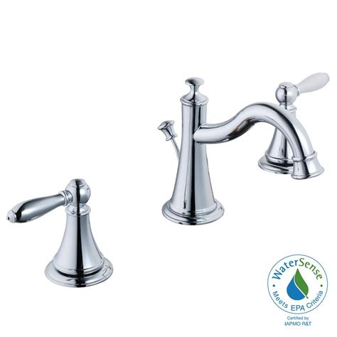 8 bathroom faucet glacier bay varina 8 in widespread 2 handle high arc bathroom faucet in chrome 67574w 6001