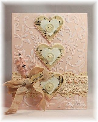 handmade card shabby chic collage
