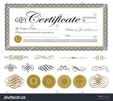 Printable Ornament Template Card Stock by Vector Premium Certificate Template Ornaments Easy Stock
