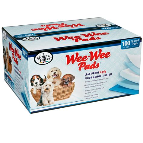 wee puppy paws four paws puppy wee wee pads 100 pack