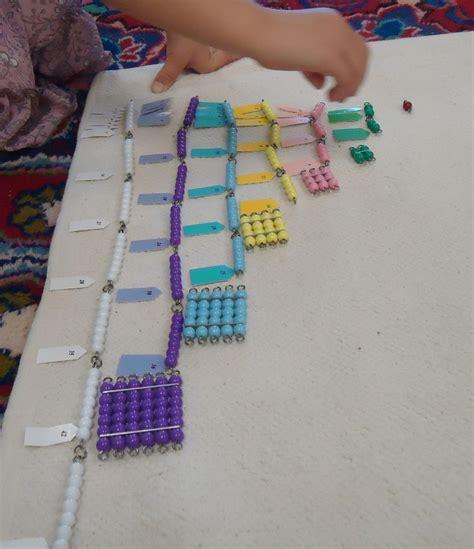 montessori counting 17 beste afbeeldingen montessori rekenlijnen op