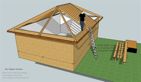 Hipped Roof Framing Model Measure Hip Roof Framing De Mystified By Modeling