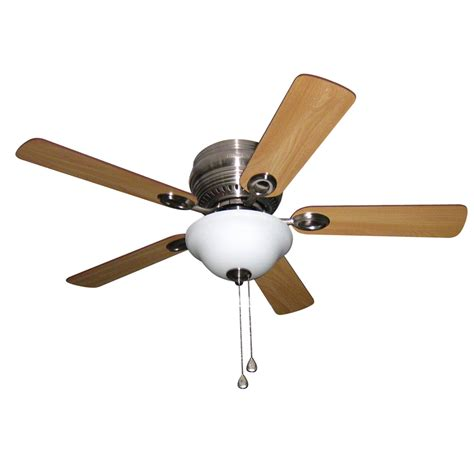 Flush Ceiling Fan With Light Shop Harbor Mayfield 44 In Brushed Nickel Flush Mount Indoor Ceiling Fan With Light Kit