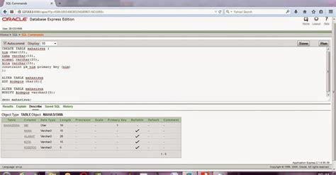 membuat database oracle 10g anita andiani s blog contoh membuat tabel mahasiswa