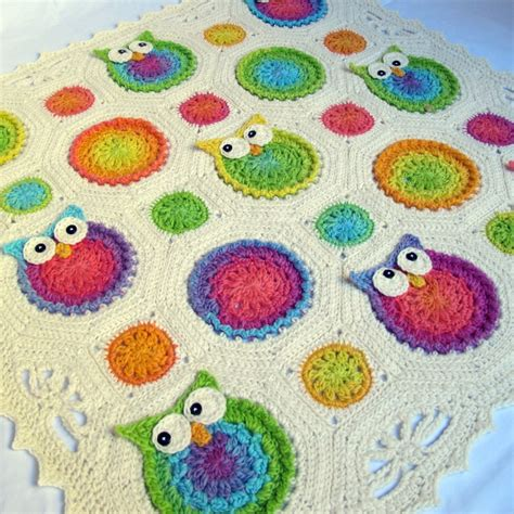 crochet pattern owl baby blanket crochet pattern owl obsession a colorful owl afghan