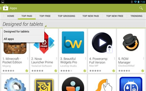 play store for android tablet play store now gives better visibility to tablet optimized apps shames others as