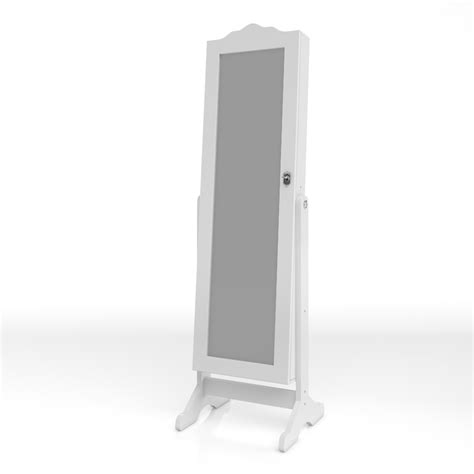 jewellery mirror cabinet with led lights mirrored cabinet jewellery cabinet standing mirror white