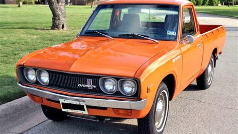 orange nissan truck found on ebay 1974 datsun 620 series pickup autoweek