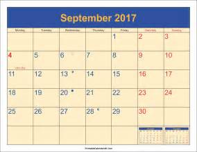 September 2018 Calendar With Holidays September 2017 Calendar Printable Template With Holidays Pdf