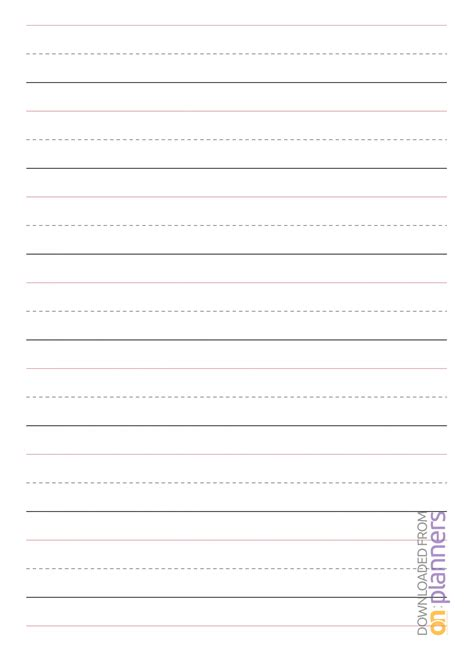 printable rule handwriting paper