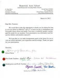 Thank You Letter Our Teacher thank you from the brunswick acres school tender smiles 4 kids