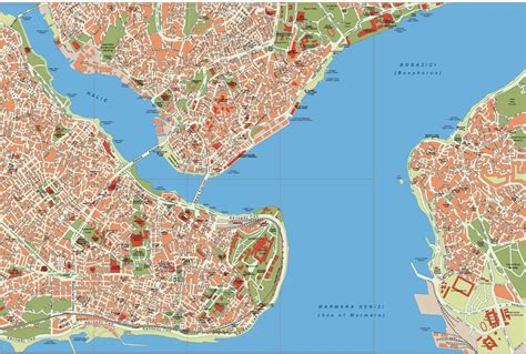 map of istanbul istanbul city vector maps illustrator freehand eps digital file as digital file