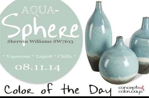 08 11 14 color of the day aqua sphere sherwin williams sw7613 light blue sky blue oslo