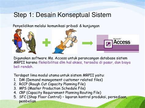 desain database konseptual manufacturing resources planning