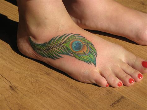 foot ankle tattoos feather tattoos designs ideas and meaning tattoos for you