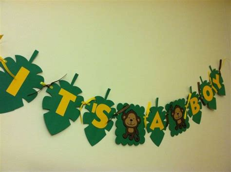 Jungle Theme Baby Shower Banner by Jungle Theme Baby Shower Banner Monkey Banner Monkey Its