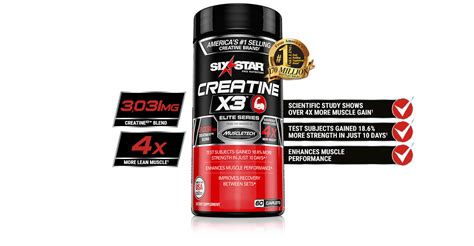 creatine x3 creatinex3 pill six pro nutrition