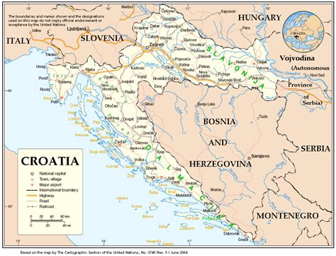 World Map Croatia by Croatia Map Of World Images