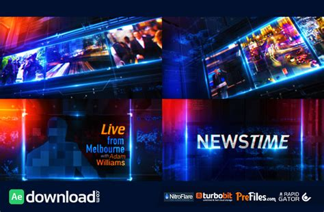 after effects free broadcast templates broadcast news package 10877546 videohive template