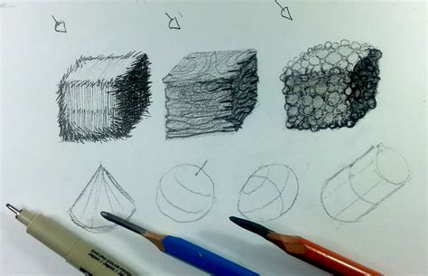 create sketch how to create textures pen vs pencil vs charcoal