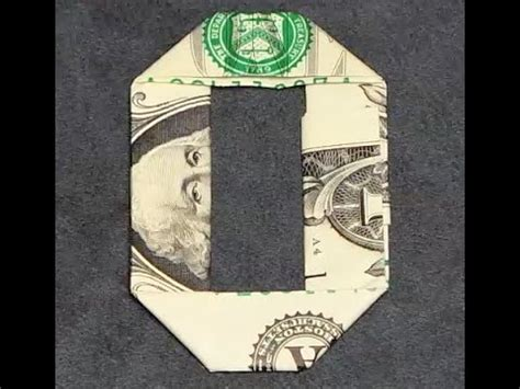 Paper Folding With Numbers - fold origami dollar bill number 0 zero