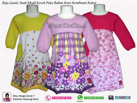 Gamis Bahan Kaos Combed 30s baju busana muslim terbaru harga murah dan berkualitas