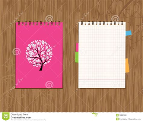 notebook cover design vector free download notebook cover and page design stock vector illustration