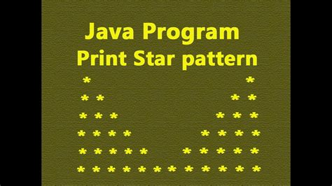 how to print pyramid pattern in java program exle java67 pattern programs in java of stars pdf how to print star