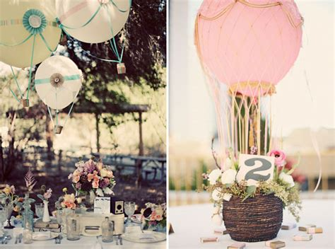 Air Balloon Table Centerpieces Hot Air Balloon Inspired Decorations That Will Take You