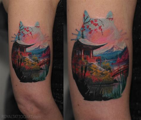 japanese landscape tattoo designs tattoos royal jafarov