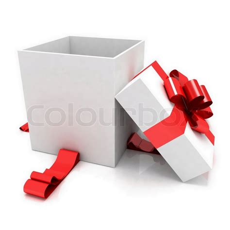 illustration of empty box for christmas gift stock photo