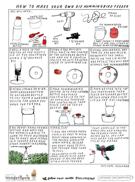 diy build your own hummingbird feeder plans free