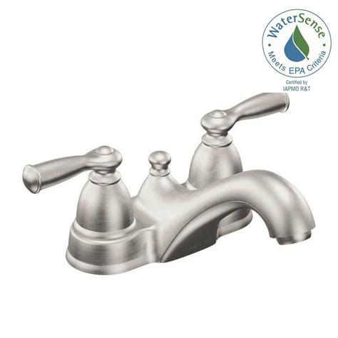 moen banbury bathroom faucet moen banbury 4 in centerset 2 handle low arc bathroom faucet in spot resist brushed nickel