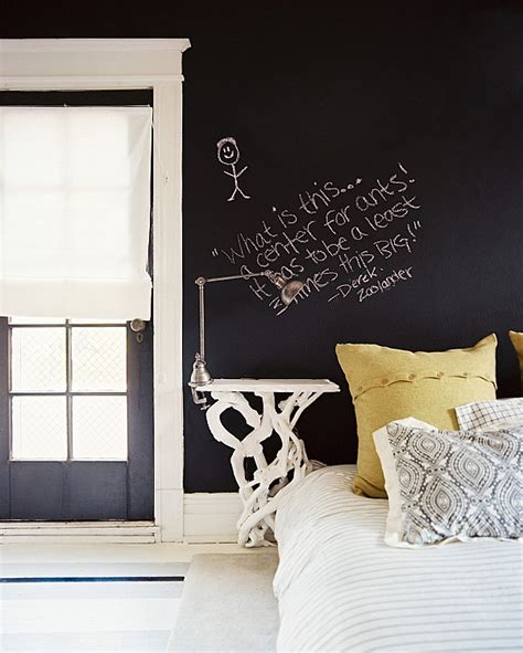 bedroom chalkboard wall chalkboard walls in a masculine bedroom decoist