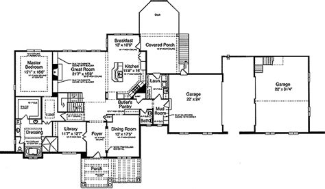 mission floor plans mission style home plan 39060st 1st floor master suite
