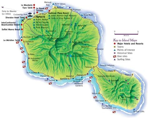 map of tahiti about travel tahiti specialists in low cost tahiti travel