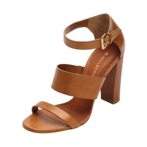 ralph high heel sandals lyst mulberry lizzie high heel sandal in brown