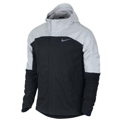 Jaket Black Silver nike shieldrunner flash running jacket black silver